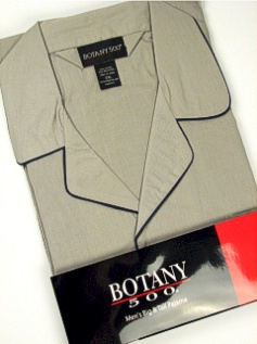 #223997. 5XL BIG. GREY Retail $  34.00 Pajamas by BOTANY 500. LONG SLV PANT SOLID Whs:  3,FW:  2,