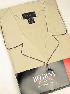 #012078. 5XL BIG. TAN Retail $  34.00 Pajamas by BOTANY 500. LONG SLV PANT SOLID Whs:  2,