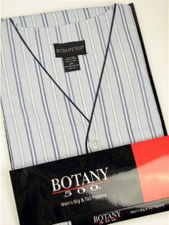 #057608. 4XL BIG. NAVY Retail $  33.00 Pajamas by BOTANY 500. SHORT SLV KNEE STRIPE Whs A:  1
