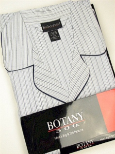 #354402. 5XL BIG. NAVY Retail $  34.00 Pajamas by BOTANY 500. LONG SLV PANT STRIPE Whs:  8,