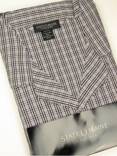 #098090. 5XL BIG. BLACK Retail $  48.00 Pajamas by STATE-O-MAINE. COTTON LS PANT PAJAMA Whs:  1,