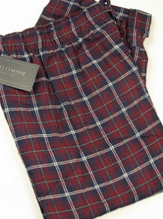 #335751. 2XL TALL. WINE Retail $  29.00 Flannel Loungepants by STATE-O-MAINE. FLANNEL PLAID FW:  1,