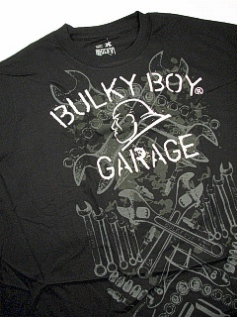 #026475. 2XL BIG. BLACK Retail $  35.00 Short Slv Graphic Tee by BULKY BOY. GARAGE TEE Whs A:  1