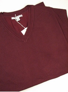 #177036. 2XL TALL. WINE Retail $  89.00 Sweaters by CUTTER BUCK. MERIDIAN V-NECK VEST Whs A:  2