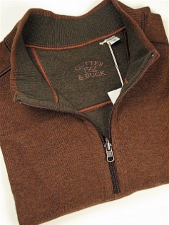 #107367. 2XL TALL. RUST Retail $ 120.00 Long Sleeve by CUTTER BUCK. ESSEX HALF-ZIP Whs:  1,