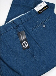 #028411. 42 36. DENIM Retail $  69.00 Cotton Casual Pants by JONATHAN QUALE. PLEAT XPAND WRNKLFREE Whs A:  1
