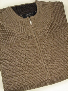 #010917. XL TALL. TAUPE Retail $  79.00 Sweaters by CELLINI. SHAKER KNIT SWEATER Whs:  1,