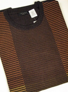 #132370. 4XL TALL. BRONZE Retail $  85.00 Sweaters by CELLINI. CREWNECK SWEATER Whs A:  1