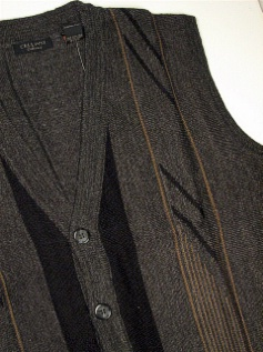#176013. XL TALL. CHARCOAL Retail $  69.00 Sweaters by CELLINI. SLEEVELESS CARDIGAN Whs A:  1