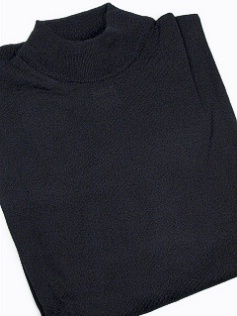 #102726. 4XL BIG. BLACK Retail $  69.00 Sweaters by CELLINI. MOCK MERINO BLEND Whs A:  3