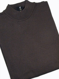 #238841. 4XL BIG. BROWN Retail $  69.00 Sweaters by CELLINI. MOCK MERINO BLEND Whs A:  1 FW:  1