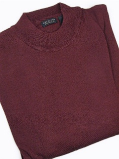 #306182. 4XL TALL. BURGUNDY Retail $  69.00 Sweaters by CELLINI. MOCK MERINO BLEND Whs A:  1 FW:  1