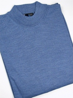#024918. 4XL TALL. DENIM Retail $  69.00 Sweaters by CELLINI. MOCK MERINO BLEND FW:  1
