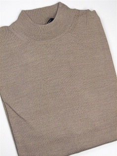 #207762. 4XL TALL. TAUPE Retail $  69.00 Sweaters by CELLINI. MOCK MERINO BLEND Whs A:  1