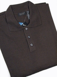 #047746. 4XL TALL. BROWN Retail $  69.00 Sweaters by CELLINI. POLO MERINO BLEND FW:  1
