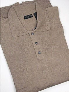 #329059. 3XL TALL. TAUPE Retail $  69.00 Sweaters by CELLINI. POLO MERINO BLEND Whs A:  2
