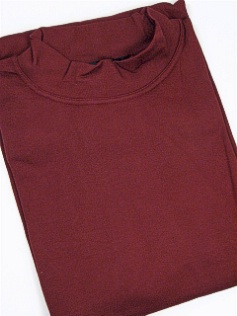 #122926. 2XL TALL. BURGUNDY Retail $  29.50 Long Sleeve by CTTON TRADERS. INTERLOCK MOCK SOLID Whs A:  1