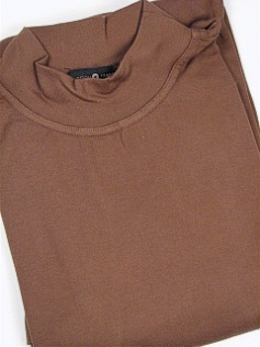 #026008. 4XL BIG. MOCHA Retail $  29.50 Long Sleeve by CTTON TRADERS. INTERLOCK MOCK SOLID Whs A:  1 FW:  1