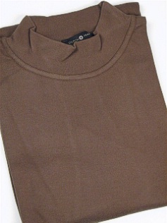 #108593. 4XL BIG. OLIVE Retail $  29.50 Long Sleeve by CTTON TRADERS. INTERLOCK MOCK SOLID Whs:  3,