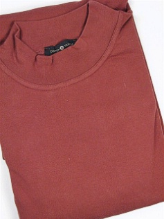 #012362. 2XL BIG. SPICE Retail $  29.50 Long Sleeve by CTTON TRADERS. INTERLOCK MOCK SOLID FW:  1