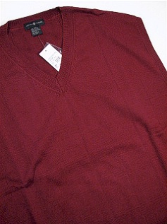 #122971. 2XL TALL. WINE Retail $  49.00 Sweaters by CTTON TRADERS. COTTON SWEATER VEST FW:  1