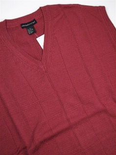 #180274. 2XL BIG. RUST Retail $  49.00 Sweaters by FAIRWAY OUTFITTERS. COTTON SWEATER VEST Whs A:  1