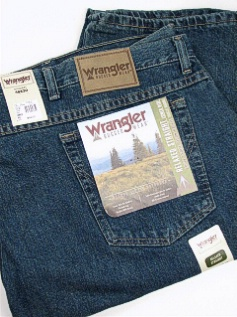 #021087. 52 34. MEDITER Retail $  44.00 Cotton Jean by WRANGLER. RELAXED STRAIGHT FIT Whs A:  1