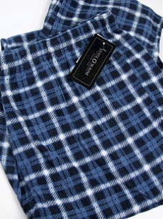 #265326. 2XL TALL. BLUE/NVY Retail $  29.00 Fluff Loungepants by STATE-O-MAINE. COMFORT FLEECE PLAID FW:  1,