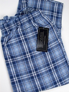#061162. 2XL TALL. BLUE Retail $  28.00 Lightweight Loungepants by STATE-O-MAINE. OXFORD LARGE PLAID Whs:  1,