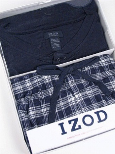 #143448. 3XL BIG. NAVY Retail $  45.00 Loungepant Sets by IZOD. WAFFLE HENLEY/PANT Whs:  5,FW:  1,