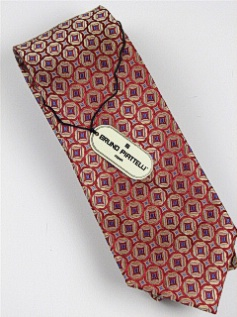 #113863.  . GOLD Retail $  46.00 Extra Long Ties by BRUNO PIATTELLI. JACQUARD XL DIAMOND FW:  1,