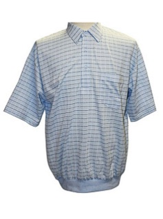 #248099. 4XL TALL. SKY Retail $  46.00 Short Sleeve by LD SPORT. TAILOR COLLAR PLAID Whs A:  2 FW:  1