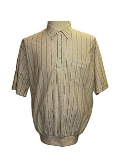 #101136. 6XL BIG. WHEAT Retail $  49.00 Short Sleeve by LD SPORT. TAILOR COLLAR STRIPE Whs:  1,FW:  1,