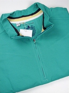 #009803. 2XL BIG. GREEN Retail $ 105.00 Long Sleeve by CUTTER BUCK. GOLD COAST ZIP Whs A:  1 FW:  1