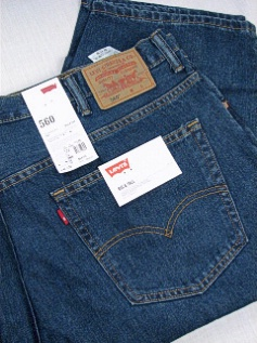 #127402. 52 34. DK BLUE Retail $  64.00 Cotton Jean by LEVI STRAUSS. 560&#8482; LOOSE FIT FW:  1 <BR><font size=2><b>Incl units held @ mfg.