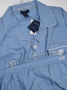 #054061. 3XL TALL. BLUE Retail $  42.00 Pajamas by IZOD. COTTON POLY LS PANT FW:  1