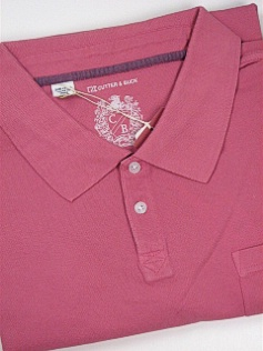 #305183. XL TALL. ROSE Retail $  95.00 Short Sleeve Luxury by CUTTER BUCK. RAINY DAY PIQUE POLO Whs A:  1