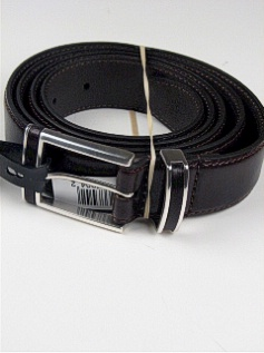 #282701. 58 . BROWN Retail $  35.00 Belts by COLOURS. 32MM LEATHER INLAY Whs:  1,