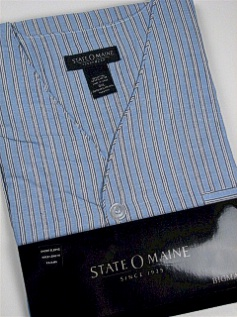 #121350. 4XL BIG. BLUE Retail $  34.00 Pajamas by STATE-O-MAINE. SHORT SLV KNEE LENGTH Whs A:  3