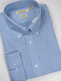 #342287. 19.0 34-35 Big. BLUE Retail $  46.00 Dress Long Sleeves by JAY & LEONARD. COTTON POLY OXFORD Whs A: 10