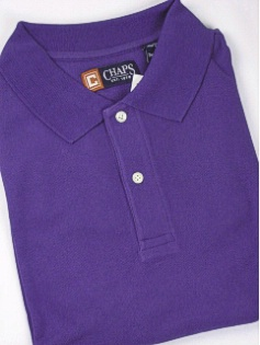 #227364. 2XL BIG. PURPLE Retail $  48.00 Short Sleeve by CHAPS. SOLID PIQUE POLO FW:  1,