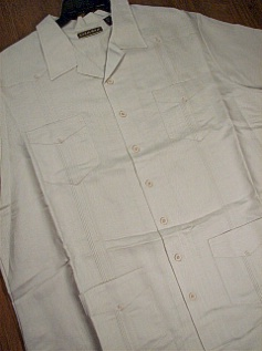 #320199. 3XL TALL. NATURAL Retail $  75.00 Short Sleeve by CUBAVERA. RAMIE RAYON GUAYABERA FW:  1