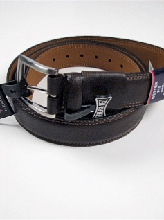 #229829. 56 . BROWN Retail $  35.00 Belts by COLOURS. TOP GRAIN 1-3/8INCH Whs:  1,