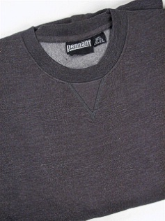 #207078. 5XL BIG. CHARCOAL Retail $  38.00 Athletic Crew by WHITE MOUNTAIN. PENNANT FLEECE CREW Whs:  2,