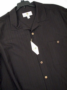 #020981. 2XL TALL. BLACK Retail $  60.00 Short Sleeve Updated by ISLAND SHORES. TONAL CAMP Whs:  1,