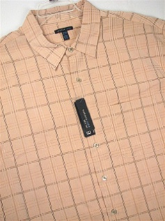 #092001. 3XL TALL. PEACH Retail $  40.00 Short Sleeve Updated by VAN HEUSEN. M-FIBER STRAIGHT HEM Whs:  3,