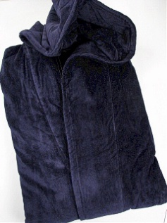 #329633. 2XL BIG. NAVY Retail $ 119.00 Robes by STATE-O-MAINE. TERRY HOODED MAXI Whs A:  4 FW:  1