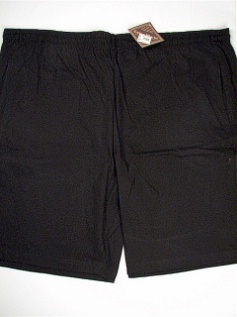 #050331. 8XL BIG. BLACK Retail $  33.00 Fleece Shorts by COTTON WORKS. JERSEY SHORT Whs A:  8