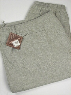 #094133. 5XL BIG. GREY Retail $  30.00 Jersey Knit Pants by COTTON WORKS. JERSEY PANT Whs:  1,FW:  1,