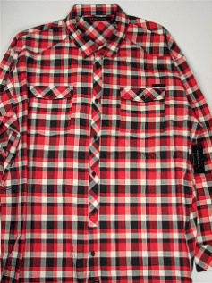 #141529. 4XL BIG. RED Retail $  78.00 Long Sleeve Cotton by SEAN JOHN. HERRINGBONE CHECK Whs A:  1